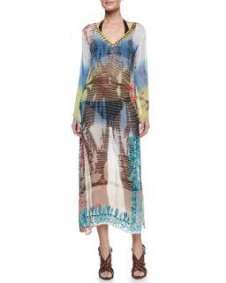 Womens Flora & Fauna Maxi Coverup Dress   Letarte   Multi (MEDIUM)