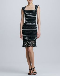 Womens Square Neck Lace Cocktail Dress   Erin by Erin Fetherston   Black (8)