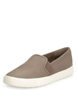 Blair 5 Perforated Slip On Sneaker, Woodsmoke   Vince   Woodsmoke (39.0B/9.0B)
