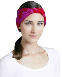 Chloe Lip Print Head Wrap, Berry/Cherry   Diane von Furstenberg   Berry/Cherry