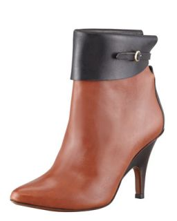 Vicky Two Tone Leather Bootie   10 Crosby Derek Lam   Toffee/Black (36.5B/6.5B)