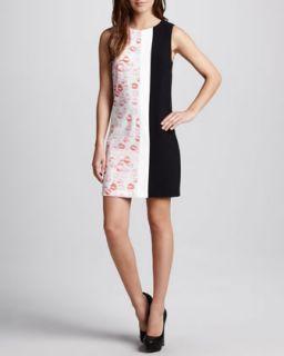 Womens Lipstick Colorblock Shift Dress   Erin Fetherston   White/Blk (0)