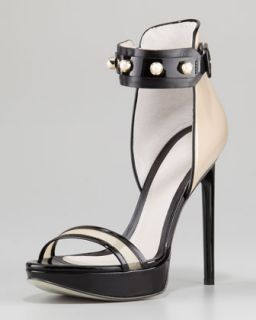 Nadja Pearly Strap Platform Sandal, Nude/Black   Jason Wu   Nude/Black (39.5B/9.