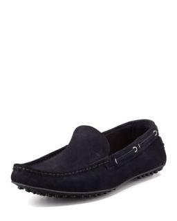 Mens Slip On Driving Shoe, Navy   Car Shoe   (10 1/2)