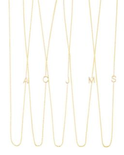 14k Yellow Gold Mini Letter Necklace   Maya Brenner Designs   H (14k )