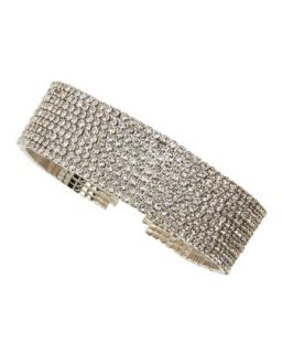 Greta Draped Crystal Bracelet   Lisa Freede   Silver