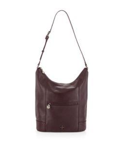 Marcelle Leather Hobo Bag, Plum   Pour la Victoire