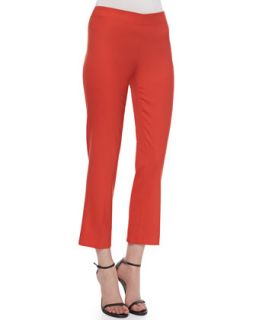 Womens Side Zip Ankle Pants, Red   Derek Lam   Red (42)