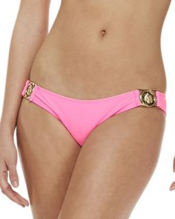 Womens Bellagio Medallion Swim Bottom   Beach Riot   Barbie (LARGE)