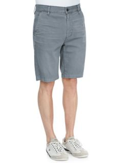 Mens Twill Chino Shorts, Slate   7 For All Mankind   Slate (38)