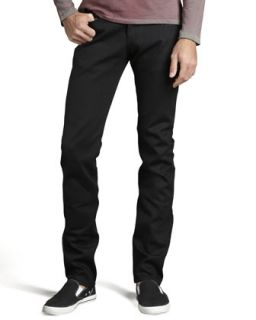 Mens WeirdGuy Black Selvedge Jeans   Naked and Famous Denim   Black (34)