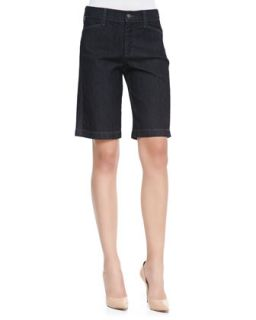 Womens Arya Relaxed Denim Shorts, Dark Enzyme   NYDJ   Dk enzyme wash (4)