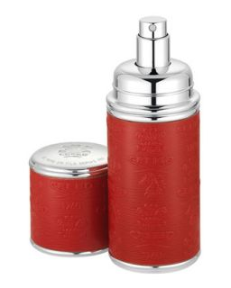 Logo Etched Leather Atomizer, Silver/Red   Creed   Silver