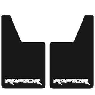 """Proven Design CLRAPT014 Classic Series 20"""" x 12"""" Mud Flaps with Raptor Logo in White Automotive"""