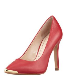 Christelle Metal Tip Pointy Toe High Heel Pump, Red   Pour la Victoire   Red