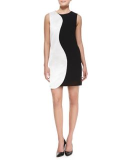 Womens Willow Two Tone Shift Dress   Raoul   Black ivory (14)