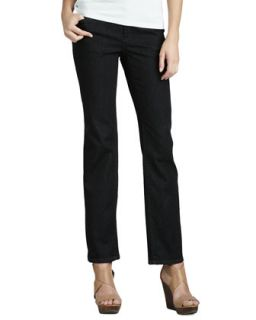 Womens Organic Soft Straight Leg Jeans   Eileen Fisher   Black indigo (6)