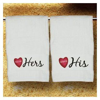 His & Hers Personalized Bath Towel   His And Hers Bath Towels