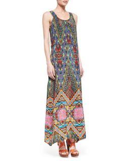 Womens Annie Silk Sleeveless Long Dress   Tolani   Brown (XL/14)