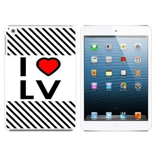 I Love Heart LV   Las Vegas Snap On Hard Protective Case for Apple iPad Mini   White: Computers & Accessories