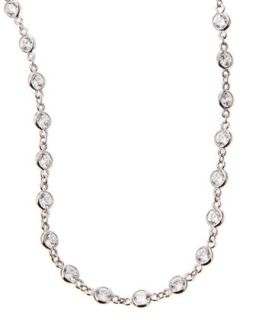Cubic Zirconia By the Yard Necklace, 36L   Fantasia by DeSerio   Silver
