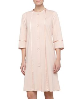 Womens Amita Button Front Knit Robe, Rosa   La Perla   Rosa (X SMALL)