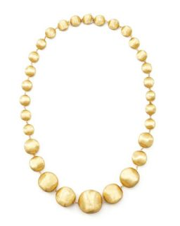Africa Gold Medium Bead Necklace, 18L   Marco Bicego   Gold