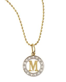 White Diamond Framed Initial Charm   Kacey K   D