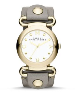 Molly Analog Watch, Yellow Golden/Gray   MARC by Marc Jacobs   Gray