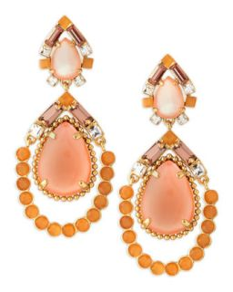 amalfi mosaic earrings, pink/orange   kate spade new york   Multi colors