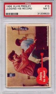 1956 Elvis Presley   Judging His Record #15 PSA 7 NM (Non Sports Cards) Entertainment Collectibles