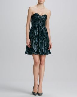 Womens Paisley Print Metallic Cocktail Dress   Erin by Erin Fetherston