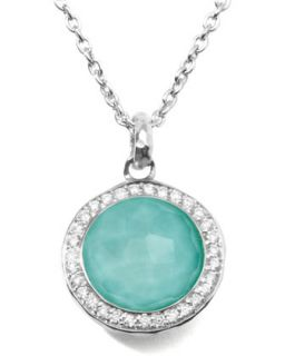 Stella Lollipop Pendant Necklace in Turquoise Doublet with Diamonds   Ippolita