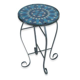 Royce RF59C/BK Home Accents Indoor/Outdoor Lighted Table Blue Quill Pattern: Home Improvement