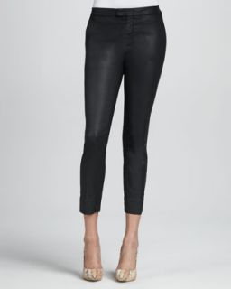 Womens Coated Black Slim Chinos   7 For All Mankind   Coated black (28)