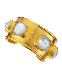 18k Vermeil Mother of Pearl Doublet Cuff   Dina Mackney   Pearl (18k )