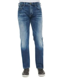 Mens Core Nathan Light Wash Jeans, Blue   Citizens of Humanity   Blue (32)