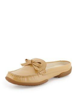 Viti Patent Loafer Mule, Nude   Donald J Pliner   Nude (37.5B/7.5B)