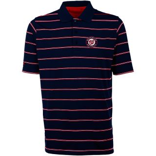 Antigua Washington Nationals Mens Deluxe Short Sleeve Polo   Size: Large,