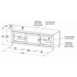 TechCraft SWBL48 48 Inch Wide Flat Panel TV Credenza   Black: Electronics
