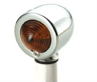All Chrome Amber Bullet Light with Dual Filament 12 Volt bulb: Automotive