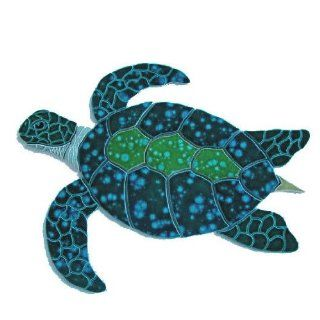 Ceramic Green Sea Turtle Large Left Mosaic : In Ground Swimming Pools : Patio, Lawn & Garden