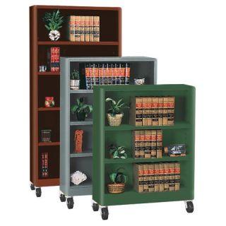 Sandusky Lee Heavy Duty Radius Edge Mobile Metal Bookcase   Bookcases