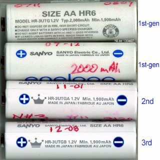 eneloop (3rd gen) AA 1800 Cycle, Ni MH Pre Charged Rechargeable Batteries, 8 Pack w/ battery holder   (discontinued by manufacturer): Electronics