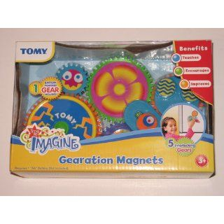 TOMY Gearation Refrigerator Magnets Building Toy: Toys & Games