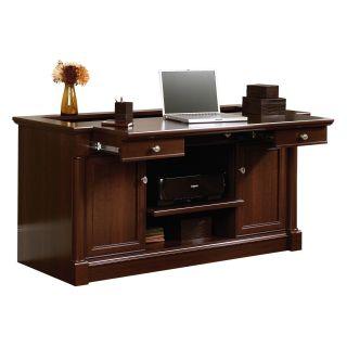 Sauder Palladia Credenza   Select Cherry   Desks