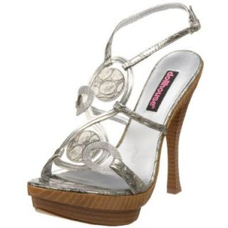 Dollhouse Women's Elanni High Heel Sandal,Pewter,10 M US: Shoes