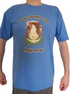 "Guinea Pig Nation Adult ""Everybody Say Hay Now!"" T Shirt: Clothing"