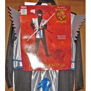 Disguise Boys 'Ice Wolf Ninja' Child Costume, Black/White, S: Toys & Games