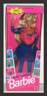 Ames 1992 Hot Looks Blonde Barbie Doll Toys & Games